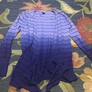 Purple Ombré Cardigan